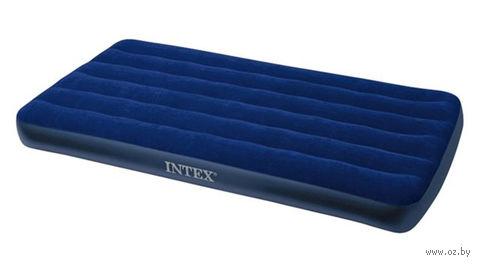 Матрас надувной синий (99*191*22 см, пластик)