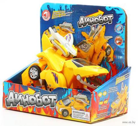 """Робот-трансформер """"Динобот"""" (желтый; со звуковыми эффектами)"""