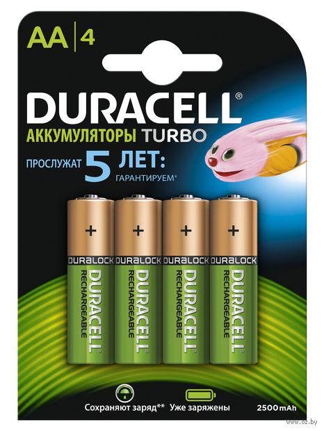 Аккумуляторы никель-металлгидридные Duracell AA HR6 2500mAh (4 шт)