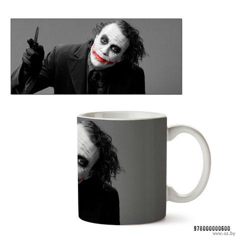 """Кружка """"Джокер из вселенной DC"""" (белая; арт. 0600) — фото, картинка"""
