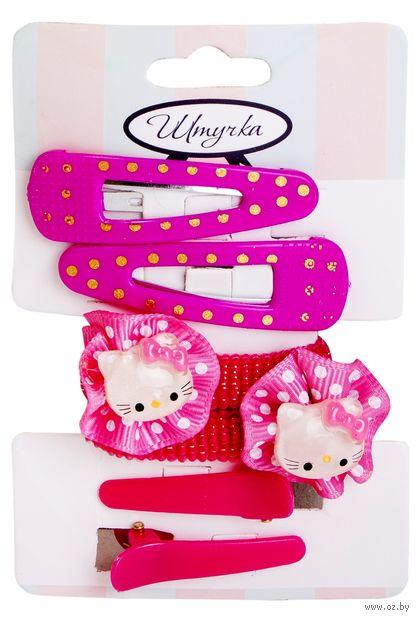 """Набор аксессуаров для волос """"Hello Kitty"""" (6 шт.; арт. 155Н) — фото, картинка"""