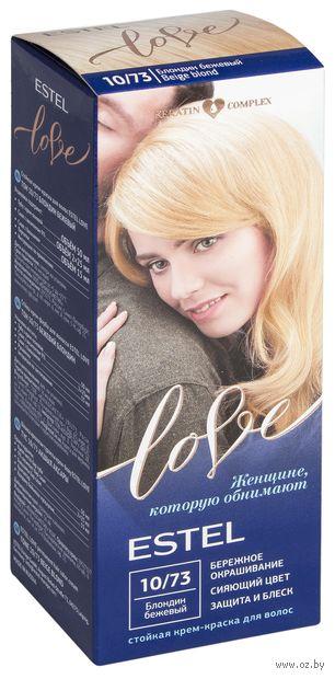 """Крем-краска для волос """"Estel Love"""" (тон: 10/73, блондин бежевый) — фото, картинка"""