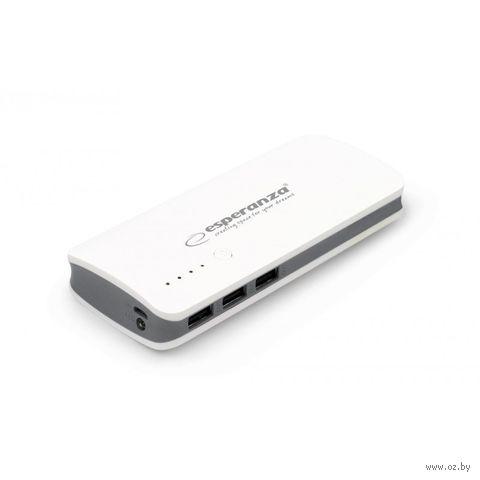 Внешний аккумулятор ESPERANZA RADIUM 8000mAh (бело-серый) — фото, картинка