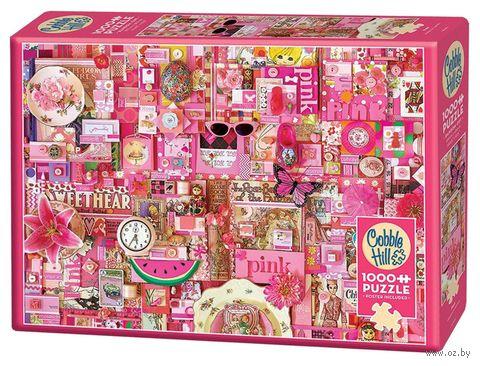 "Пазл ""Цвета радуги. Розовый"" (1000 элементов) — фото, картинка"
