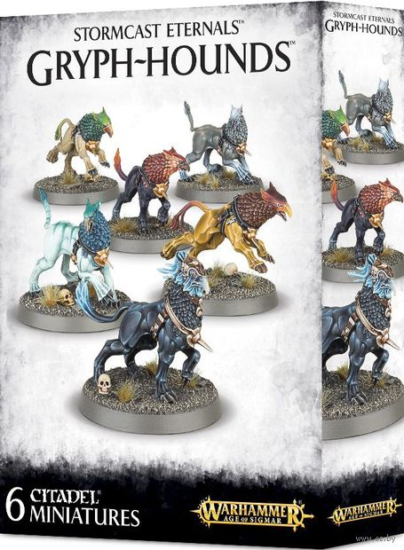 Warhammer Age of Sigmar. Stormcast Eternals. Gryph-hounds (96-31) — фото, картинка