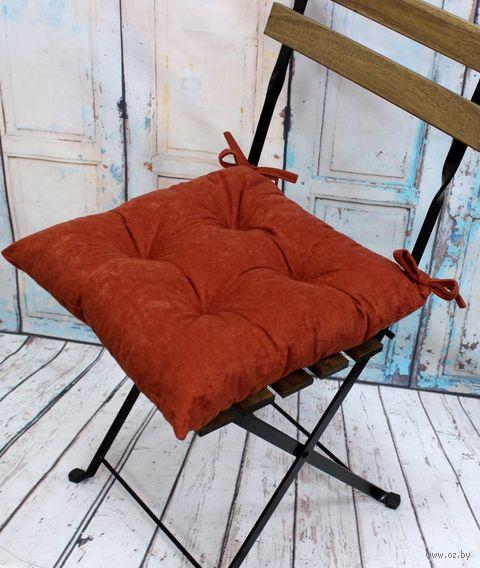 """Подушка на стул """"Velours. Rust"""" (42х42 см) — фото, картинка"""