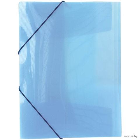 """Папка пластиковая на резинках """"Line"""" (А4; синяя)"""