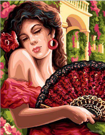 "Картина по номерам ""Испанская красавица"" (400х500 мм)"