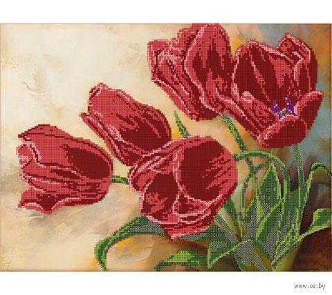 "Канва с нанесенным рисунком ""Тюльпаны"""