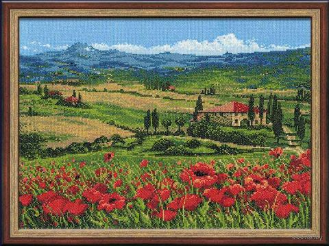 "Вышивка крестом ""Тоскана"" (400х300 мм) — фото, картинка"
