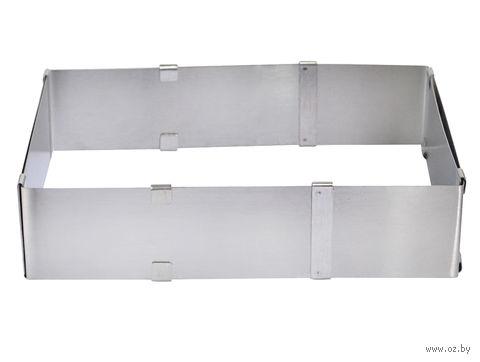 Форма для выпекания металлическая раздвижная (160х160 мм) — фото, картинка