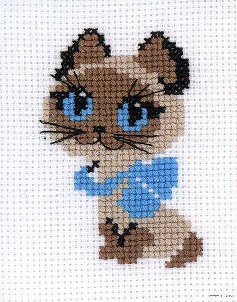 "Вышивка крестом ""Котёнок"" (130х160 мм) — фото, картинка"