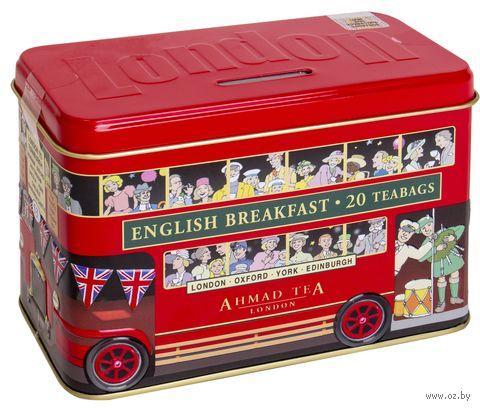 """Чай черный """"Ahmad Tea. Лондонский Автобус"""" (20 пакетиков) — фото, картинка"""