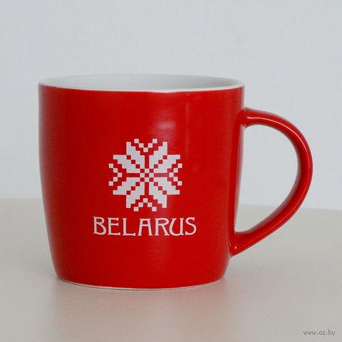 """Кружка керамическая Vitaem """"Belarus"""" (фигурная, красная)"""