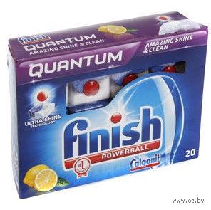 """Таблетки для посудомоечных машин FINISH Quantum """"Лимон"""" (20 шт)"""