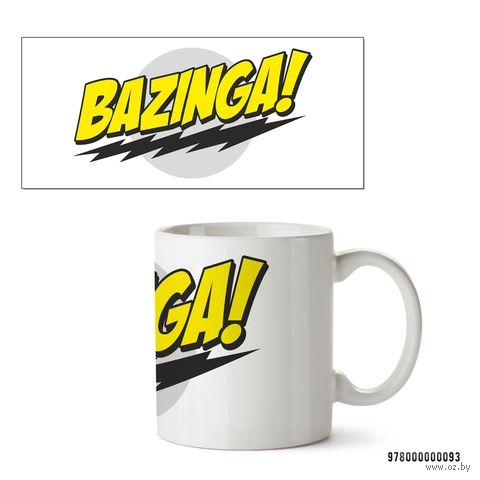 """Кружка """"Bazinga. Теория большого взрыва"""" (белая) — фото, картинка"""