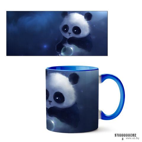 """Кружка """"Панда"""" (голубая; арт. 392) — фото, картинка"""