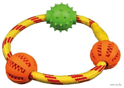 """Игрушка для собак """"Кольцо с шариками"""" (20 см) — фото, картинка"""