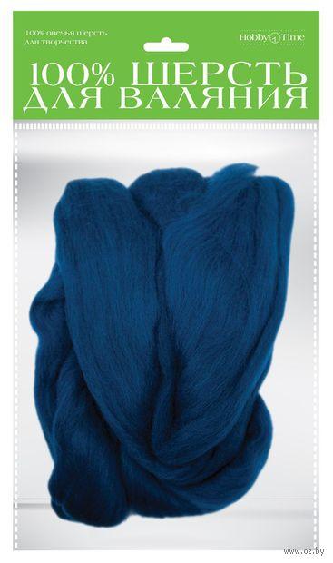 Шерсть для валяния (синяя; 50 г) — фото, картинка