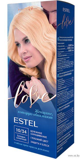 """Крем-краска для волос """"Estel Love"""" (тон: 10/34, блондин солнечный) — фото, картинка"""