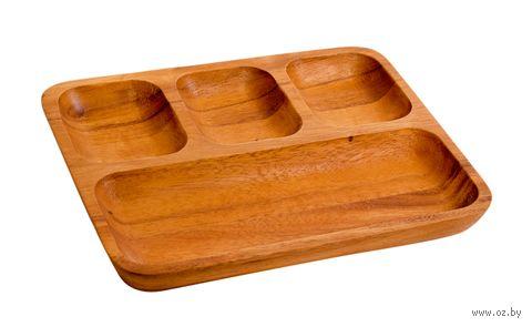 Менажница деревянная (250х200х25 мм) — фото, картинка