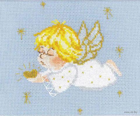 """Вышивка крестом """"Ангелочек с сердцем"""" (арт. 1135)"""