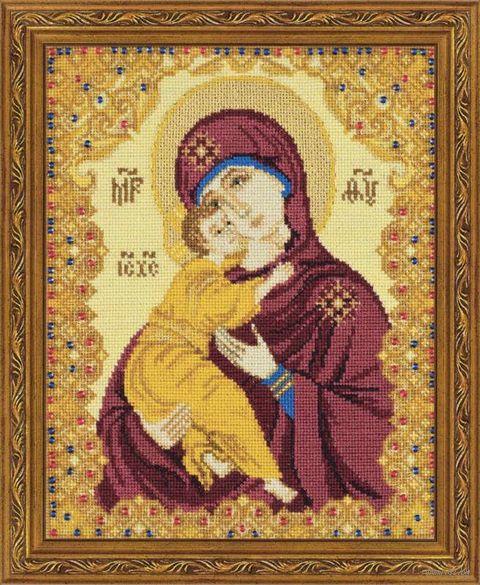 """Вышивка крестом """"Богоматерь Владимирская"""" (арт. 1300)"""