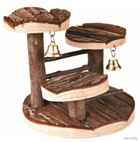 Лесенка с платформами для грызунов (140х140 мм) — фото, картинка