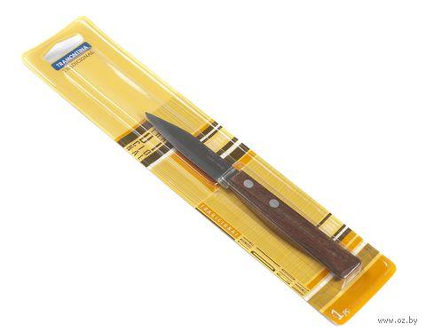 Нож металлический для овощей с пластмассовой ручкой (16,5/7,1 см, арт. 22210103)