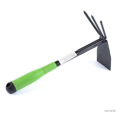 Мотыга металлическая с пластмассовой ручкой (29 см; арт. 10649273)