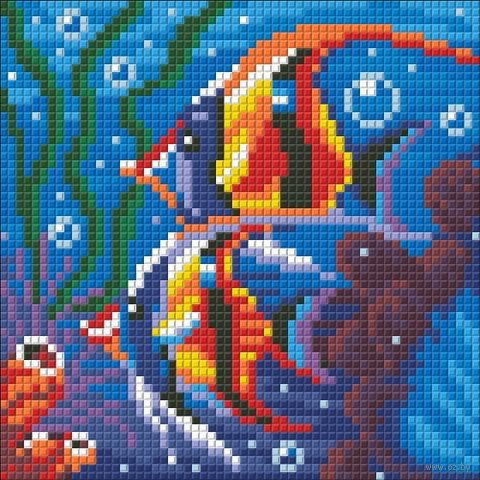 """Алмазная вышивка-мозаика """"Обитатели рифа"""""""