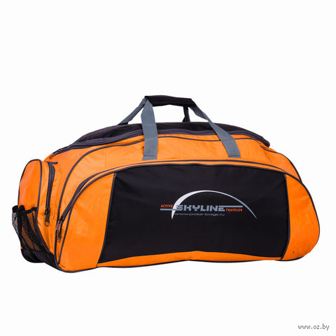 Сумка спортивная 6064/6 (73,5 л; оранжево-чёрная) — фото, картинка