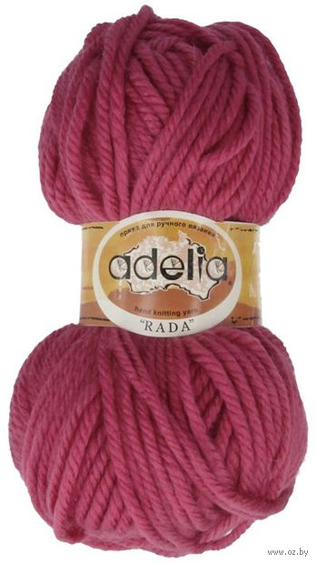 "Пряжа ""Adelia. Rada №60"" (100 г; 80 м; тёмно-розовый) — фото, картинка"