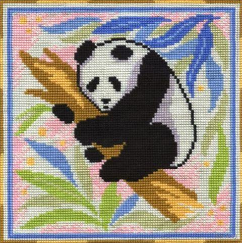 "Вышивка крестом ""Панда"" (360х360 мм) — фото, картинка"