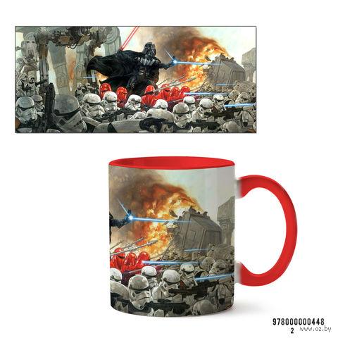 """Кружка """"Звездные войны"""" (красная; арт. 0448) — фото, картинка"""