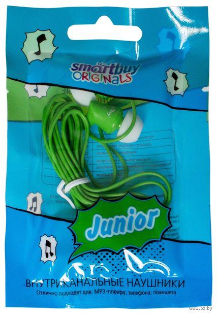 Внутриканальные наушники Smartbuy JUNIOR, зеленые — фото, картинка