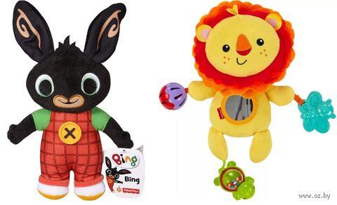 """Погремушка-прорезыватель """"Весёлый львёнок и и кролик Bing"""" (2 шт.) — фото, картинка"""