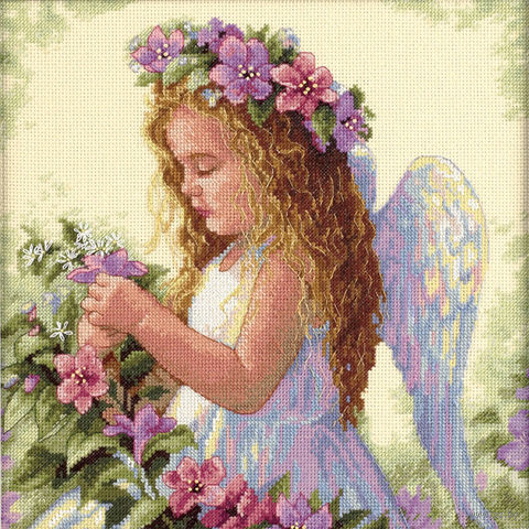 "Вышивка крестом ""Цветочный ангел"" (арт. DMS-35229)"