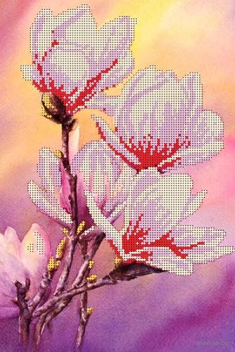 """Канва с нанесенным рисунком """"Цветок весны"""""""