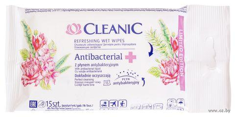 """Влажные салфетки """"Antibacterial"""" (15 шт.) — фото, картинка"""