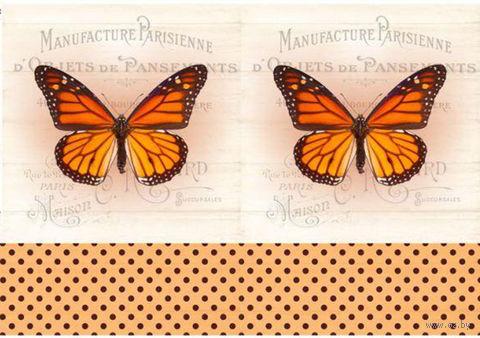"Бумага для декупажа рисовая ""Бабочки"" (21х30 см; арт. AM400377) — фото, картинка"