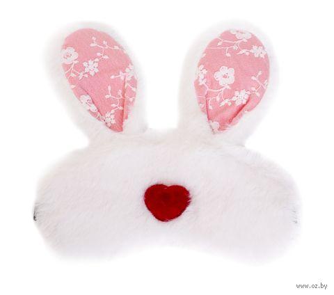 "Маска для сна ""Bunny heart"" (белая) — фото, картинка"