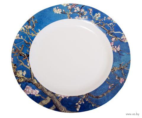"""Тарелка фарфоровая """"Ван Гог. Цветущий миндаль"""" (266 мм) — фото, картинка"""