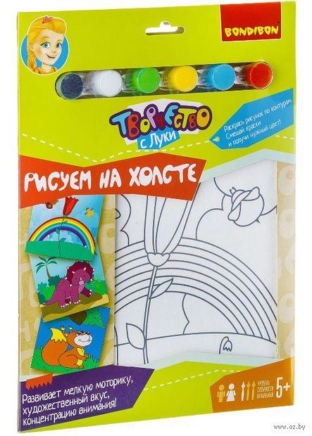 """Набор для рисования """"Рисуем на холсте. Колокольчик с пчёлкой"""" — фото, картинка"""