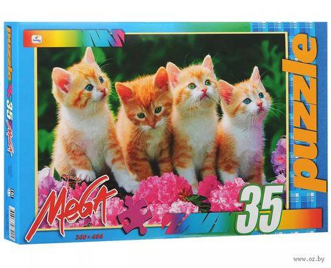 """Пазл """"В мире животных. Четыре котенка"""" (35 элементов) — фото, картинка"""