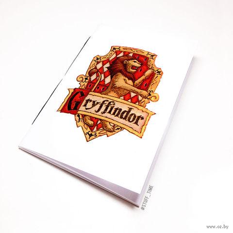 """Блокнот белый """"Гарри Поттер. Гриффиндор"""" А6 (870)"""