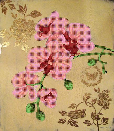"""Канва с нанесенным рисунком """"Орхидея 1"""""""