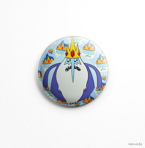 """Значок маленький """"Время приключений. Ледяной Король"""" (арт. 521) — фото, картинка"""