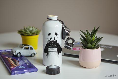 """Бутылка """"Панда-преступник"""" (600 мл; арт. 10) — фото, картинка"""