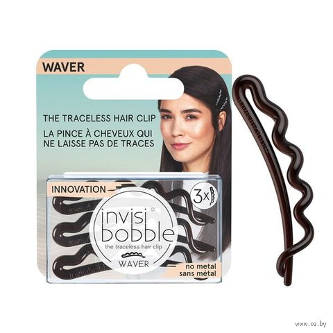 "Набор заколок для волос ""Waver Pretty Dark. С подвесом"" (3 шт; арт. 3155) — фото, картинка"